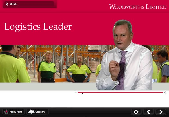 Woolworths eLearning – Leading Logistics